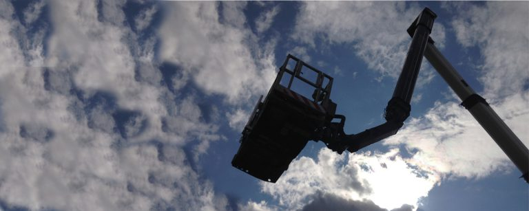 MEWP or Access Platform used for safe access window cleaning