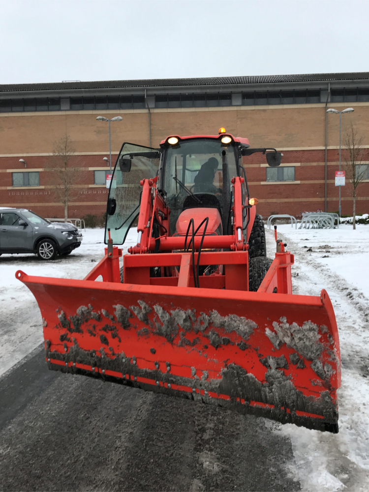 Commercial snow ploughing service