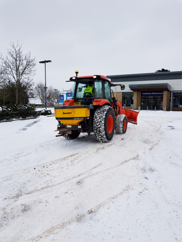 Tractor mounted gritting service South Yorkshire